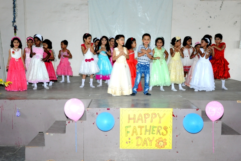 Dads were overwhelmed to see their tots first step on the stage.