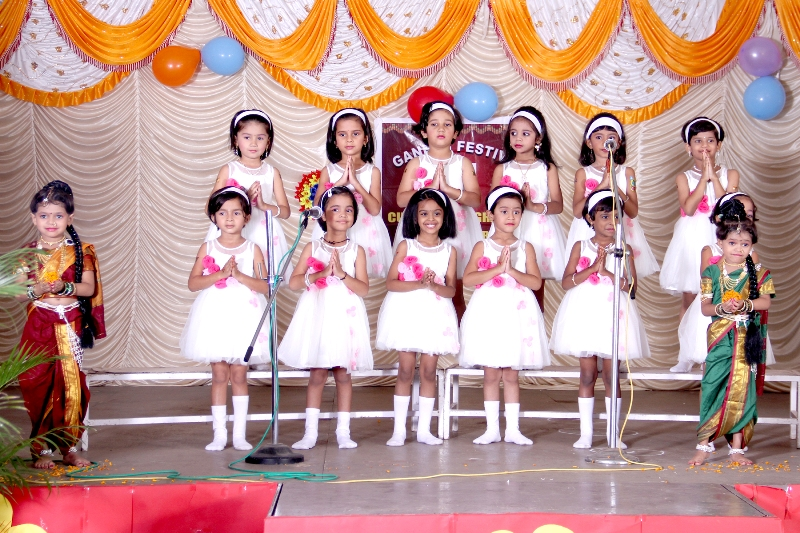 Ganesh Festival : Children are welcoming parents through their melodious voice.