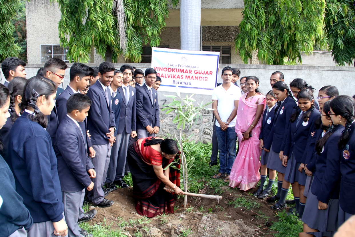 'Tree Plantation' in the presence of Mr. Yogesh Jagtap – President Baramati Municipal Corporation.